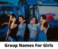 Group Names For Girls