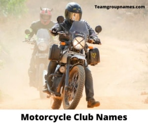 Motorcycle Club Names Cool Good Funny Badass For Bikers