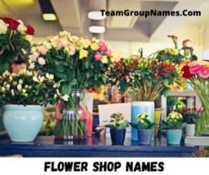Flower Shop Names