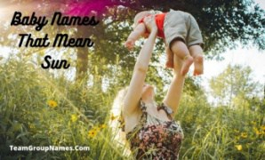 Baby Names That Mean Sun