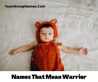 Names That Mean Warrior