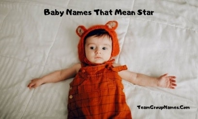 Baby Names That Mean Star