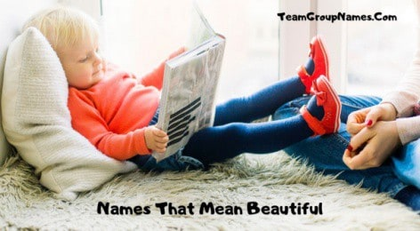 Names That Mean Beautiful