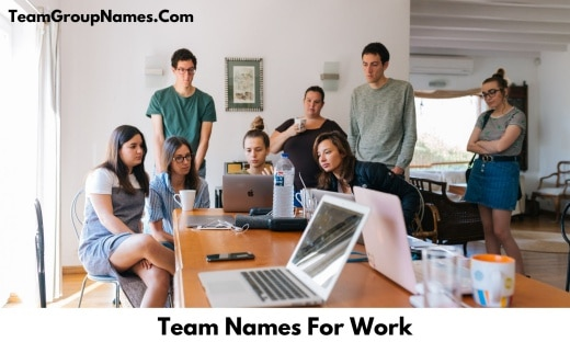 Team Names For Work