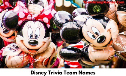 Disney Trivia Team Names