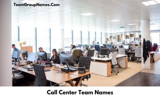 Call Center Team Names