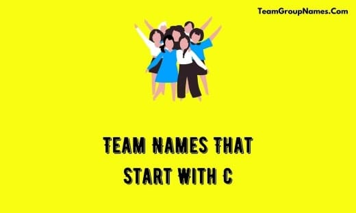 Team Names That Start With C
