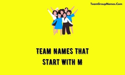Team Names That Start With M
